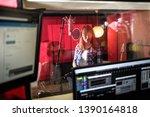 female singer during vocal...   Shutterstock . vector #1390164818