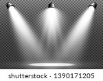 White Scene On With Spotlights...