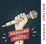 vector karaoke party invitation ... | Shutterstock .eps vector #1390174658
