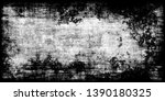 closeup of black white old...   Shutterstock . vector #1390180325
