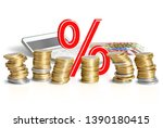 calculation of percentages for... | Shutterstock . vector #1390180415