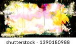 closeup of colorful old film  ...   Shutterstock . vector #1390180988