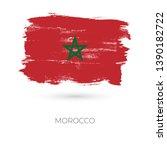 morocco colorful brush strokes... | Shutterstock .eps vector #1390182722