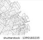vector abstract boxes... | Shutterstock .eps vector #1390183235