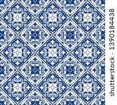 talavera pattern.  indian... | Shutterstock .eps vector #1390184438