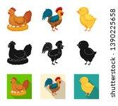 vector illustration of breeding ... | Shutterstock .eps vector #1390225658