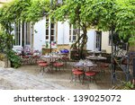 open restaurant terrace under a ... | Shutterstock . vector #139025072