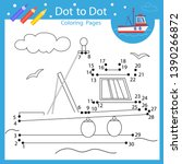Dot To Dots Drawing Worksheets...