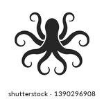 Octopus. Logo. Black Silhouette ...