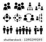 simple set of business people.... | Shutterstock .eps vector #1390299395