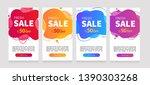 dynamic modern fluid mobile for ... | Shutterstock .eps vector #1390303268