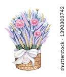 A Basket Of Flowers. Basket...
