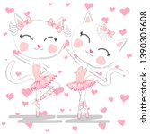 hand drawn beautiful pair of... | Shutterstock .eps vector #1390305608