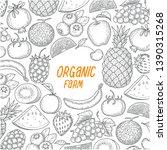 hand draw fruit on white... | Shutterstock .eps vector #1390315268