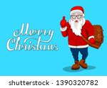 merry christmas card fashion... | Shutterstock . vector #1390320782