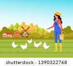 woman farmer worker character... | Shutterstock .eps vector #1390322768