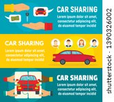 car sharing banner set. flat... | Shutterstock . vector #1390326002