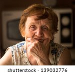 an old woman at his home | Shutterstock . vector #139032776