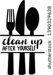 clean up after yourself...   Shutterstock .eps vector #1390329638