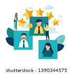 vector business graph  open... | Shutterstock .eps vector #1390344575