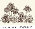 summertime hot sunny hawaii... | Shutterstock .eps vector #1390389695