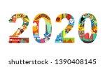 2020 new year travel... | Shutterstock .eps vector #1390408145