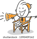 man movie director   producer   ... | Shutterstock .eps vector #1390409162