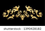 decorative elements in baroque  ... | Shutterstock .eps vector #1390428182