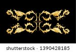 decorative elements in baroque  ... | Shutterstock .eps vector #1390428185