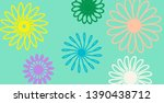 multicolored flowers on menthol ... | Shutterstock . vector #1390438712