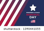 memorial day in united states.... | Shutterstock .eps vector #1390441055