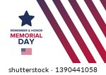 memorial day in united states.... | Shutterstock .eps vector #1390441058