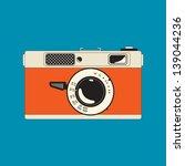 vintage rangefinder film camera | Shutterstock .eps vector #139044236