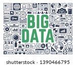 big data   illustration with...   Shutterstock .eps vector #1390466795