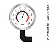 special manometer on white...   Shutterstock .eps vector #139047566