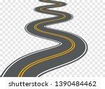 winding road vector highway... | Shutterstock .eps vector #1390484462