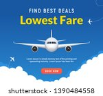 flight travel trip banner for... | Shutterstock .eps vector #1390484558