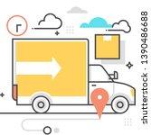 rent truck related  color line  ...   Shutterstock .eps vector #1390486688