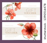coupon template with abstract... | Shutterstock .eps vector #1390516478