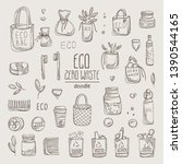 collection of eco friendly... | Shutterstock .eps vector #1390544165
