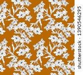 all over flower textile pattern   Shutterstock . vector #1390546295