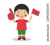 national sport team fan from... | Shutterstock .eps vector #1390550195