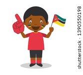 national sport team fan from... | Shutterstock .eps vector #1390550198