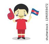 national sport team fan from...   Shutterstock .eps vector #1390555472