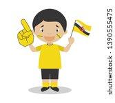 national sport team fan from...   Shutterstock .eps vector #1390555475