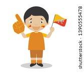 national sport team fan from...   Shutterstock .eps vector #1390555478