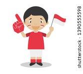 national sport team fan from...   Shutterstock .eps vector #1390555598