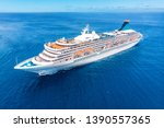 Cruise Liner Ship In Ocean With ...