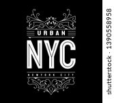 new york typography t shirt... | Shutterstock .eps vector #1390558958