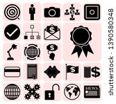 set of 22 business icons  high... | Shutterstock .eps vector #1390580348